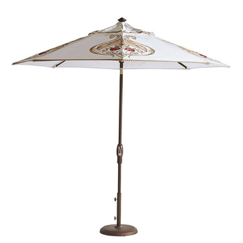 Logo customized sturdy wood outdoor use patio umbrella