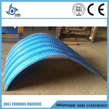 Metal Arch Roofing Sheet Crimping Panel Making Machine , Roof panel Curved Machine