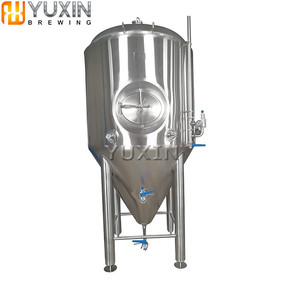 1000L beer brewery glycol jacket conical fermenter