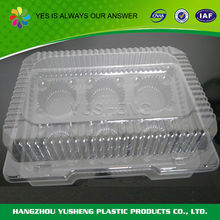 Eco-friendly reclaimed material container plastic packaging for cakes