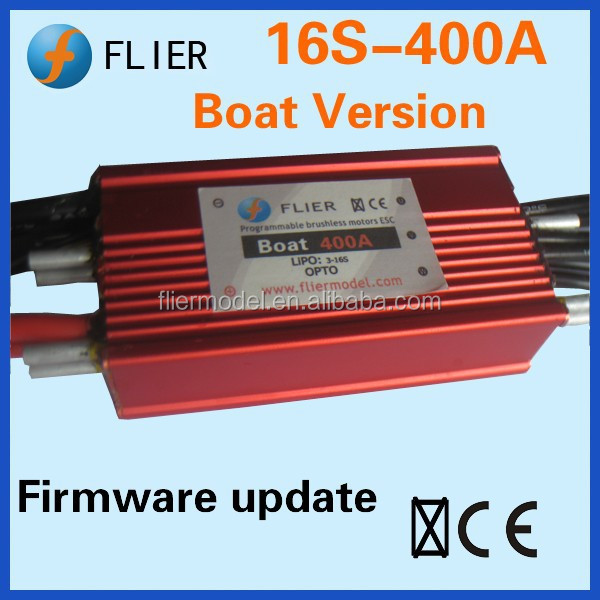 Flier waterproof brushless esc 400a and 16S for fishing marine