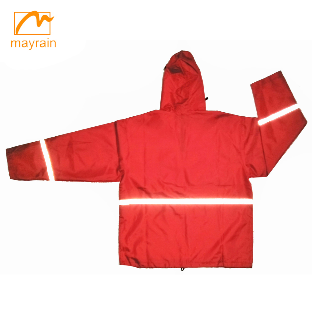 Polyester Rain Jacket Men or Women Fashion Coats 2017 Wholesale