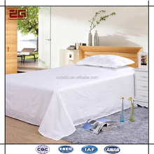 250TC White Cotton Hotel Bed Linen Cheap Double Flat Sheet for Hotel or Hospital
