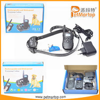 2016 new rechargeable and waterproof remote dog training collar TZ-KD668 pet products obedience training for dogs