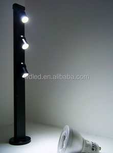 aluminum 3*1W adjustable standing led jewelry display lighting