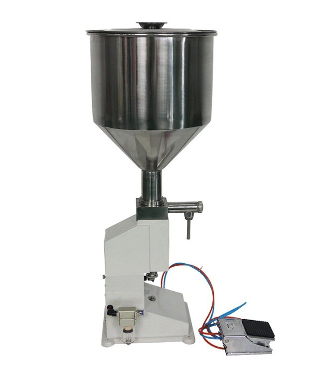 Pneumatic Toothpaste Filling Machine for High Viscosity Liquid , Cream Filler (5-50ml) <strong>A02</strong>