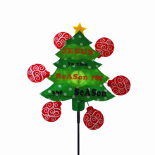 2018 newest christmas tree outdoor decorative windmill