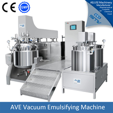 Vacuum emulsifying mixing tank with high pressure homogenizer