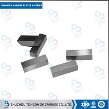 Cemented carbide square yg8 flat bar/strips tungsten k10&k20 carbide bar/strips for wood&metal cutting