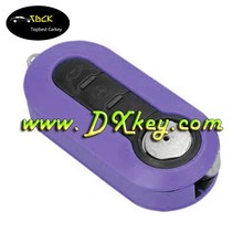 costom 3 button replacement key shell (amethyst) with SIP22 folding blade for fiat key cover