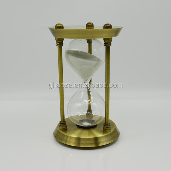 Metal 2 Hour Sand Timer Large Decorative Hourglass Factory Buy - Decorative-hourglass