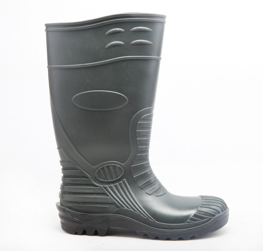 impact and penetration resistance PVC / rubber waterproof gumboots safety rain boots