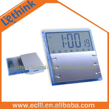 Plastic electric calendar clock for promotion