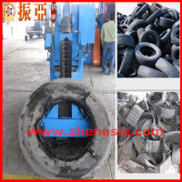 automatic OTR radial tire cutter machine/used tyre cutting plant,/used truck tire cutting equipment