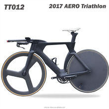 2017 new style full carbon TT BIKE Triathlon bikes carbon frame disc rear+5-spoke front wheelset Time trial carbon bicycle Frame