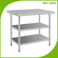 (BN-W05) Cosbao stainless steel restaurant kitchen utility work table for sale