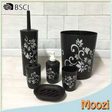 Floral 6-piece Bath Accessory Set