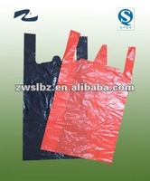 LDPE and HDPE t-shirt shopping plastic bag/vest bag