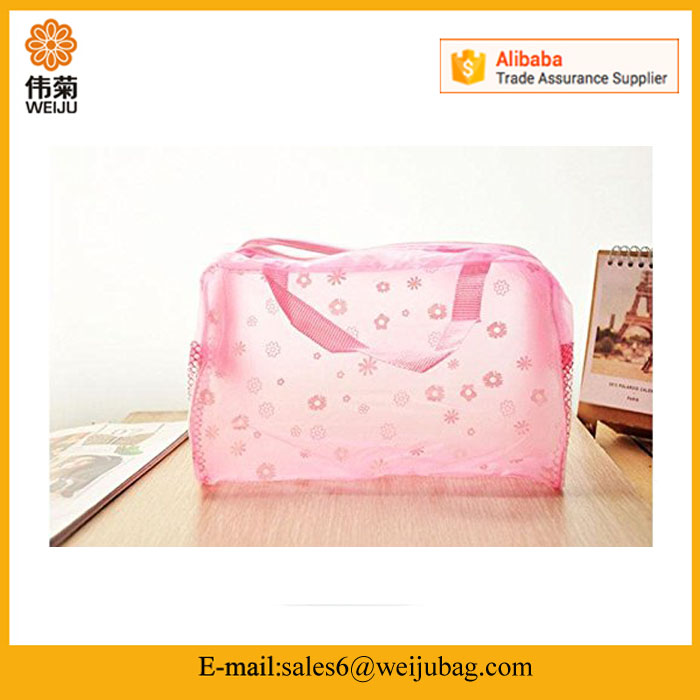 Wholesale Portable PVC Cosmetic Travel Waterproof Storage Pouch Bag