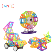 Clear Color Magnetic Toys Building Blocks for Kids -2017 Hot Sales MNTL - 119 Pcs Magnetic Tiles Compatible Magformers Blocks