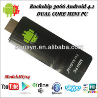 best selling Android 4.1 DUAL CORE MINI PC usb tv stick satellite receiver