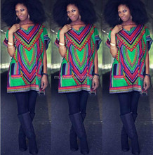 L0634A summer fashion vintage short traditional african dashiki print dress dashiki dress for women