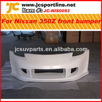 Unpainted grey primer FRP car front bumper for Nissan 350z front skirts