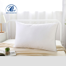 New arrival luxury hotel bed pillow strip fabric white duck down pillow inserts