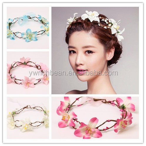daisy flower headband flower crown garland tiara wedding crown with flowers wreath for floral hair women wreath head accessories