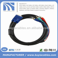 SVGA VGA to Red Green Blue RGB RCA AV Computer Cord Cable