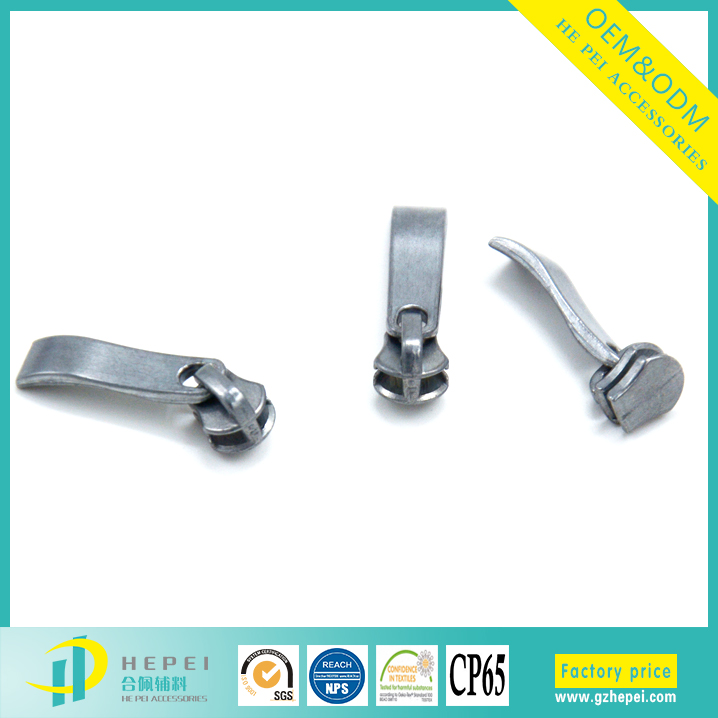 Zinc alloy material zip slider 5# metal boot zipper head pulls