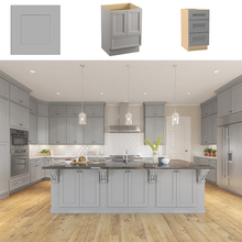 Foshan Furniture Cheap Ready Made American Kitchen Cabinets Wooden