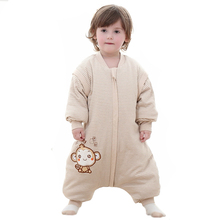 Natural Pure Colour Cotton Fabric Zip Through Baby Sleepwear