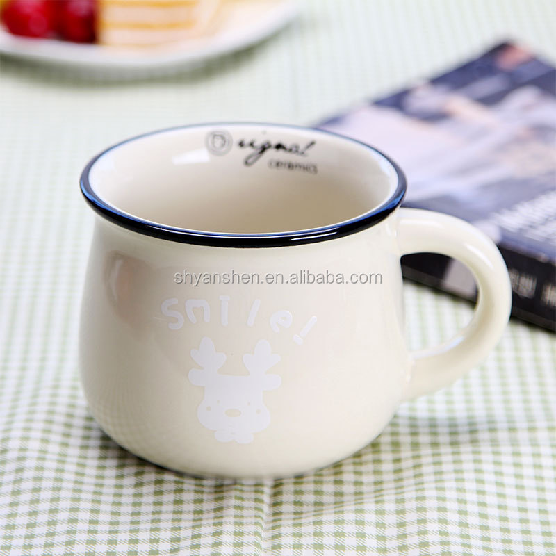 Wholesale Vintage Style Ceramic Silicone Coffee Cups With Custom Logo