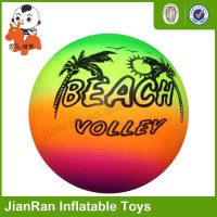 Colorful toy volleyball, rainbow ball, beach ball