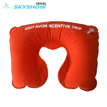 Various Color Custom Logo U Shape Travel Neck Inflatable Pillow