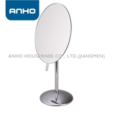 oval Free-standing and single-sided metal cosmetic mirror, tabletop mirror, cosmetic mirror