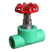 high quality brass pipe fitting ppr stop valve