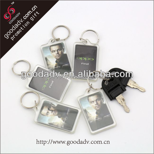 Made in China cheaper acrylic keychain/acrylic keyring/acrylic keychain photo insert for promotional gift