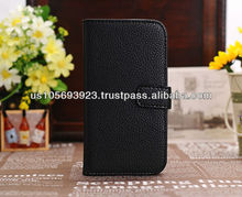 IMPRUE Luxury Credit Card Holder Stand Leather Case Cover For Sumsung Galaxy S4/I9500 Paypal Accepted