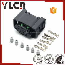 YLCN Manufacturer tyco 1-967616-1 1-967587-3 male female connector black waterproof 6 pins automotive connector