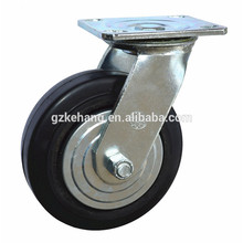 "6"" cast iron caster,150mm casters trolley wheel,industrial swivel rubber caster wheel"