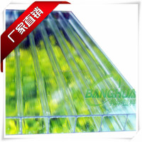 greenhouse hollow roofing sheet with 12mm opal polycarbonate sheet