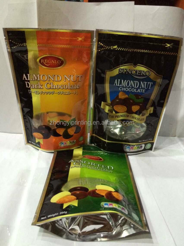 Aluminium Laminated Foil Stand up Pouch With Clear Window for Nut,Dry Goods with Zipper,Plastic Package Bag
