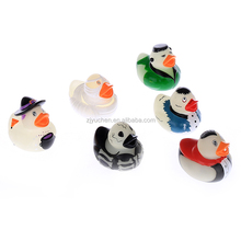 Esalink Vinyl PVC baby bath toy duck sets with different design printing