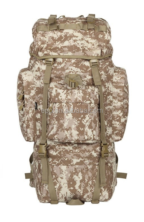 Camouflage Outdoor 600D Oxford Tactical Shoulders Bag / Molle Backpack