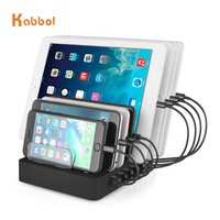 50w 5v 10a 8 in 1 charger charging dock station Multiple Device Desktop Organizer for tablets and all smartphones