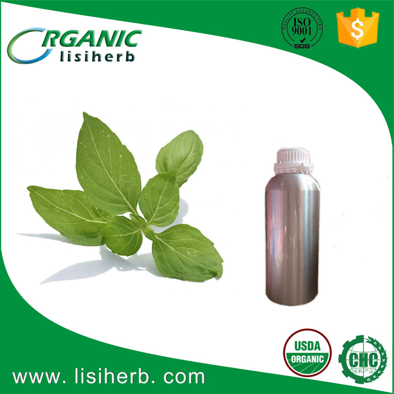 100% Pure Basil Essential oil Wholesale for Skin Cosmetic