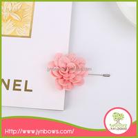 handmade chiffon fabric flower brooches made in China