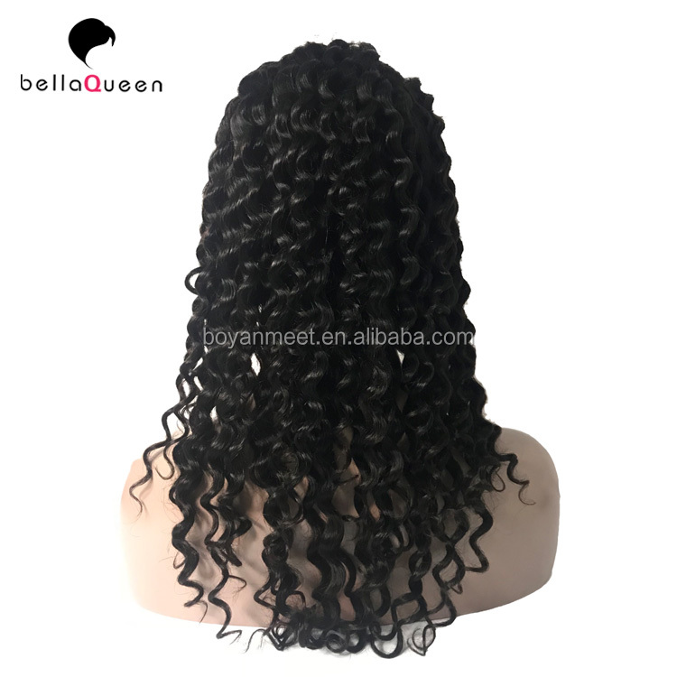 Natural hairline 8A Remy Human Hair Brazilian Kinky Curly Lace Front Wig,Afro Wigs Wave 360 Lace Frontal Wig